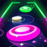 glow air hockey